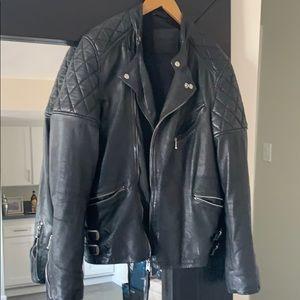 All Saints Jackets & Coats - MENS Black Leather Jacket XS
